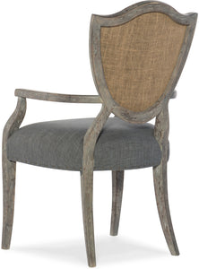 Hooker Furniture Dining Room Beaumont Shield Back Arm Chair - 2 per carton/price ea - Dream art Gallery