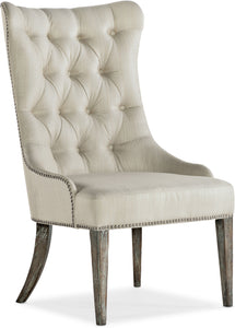Hooker Furniture Dining Room Sanctuary Hostesse Upholstered Chair - 2 per carton/price ea - Dream art Gallery