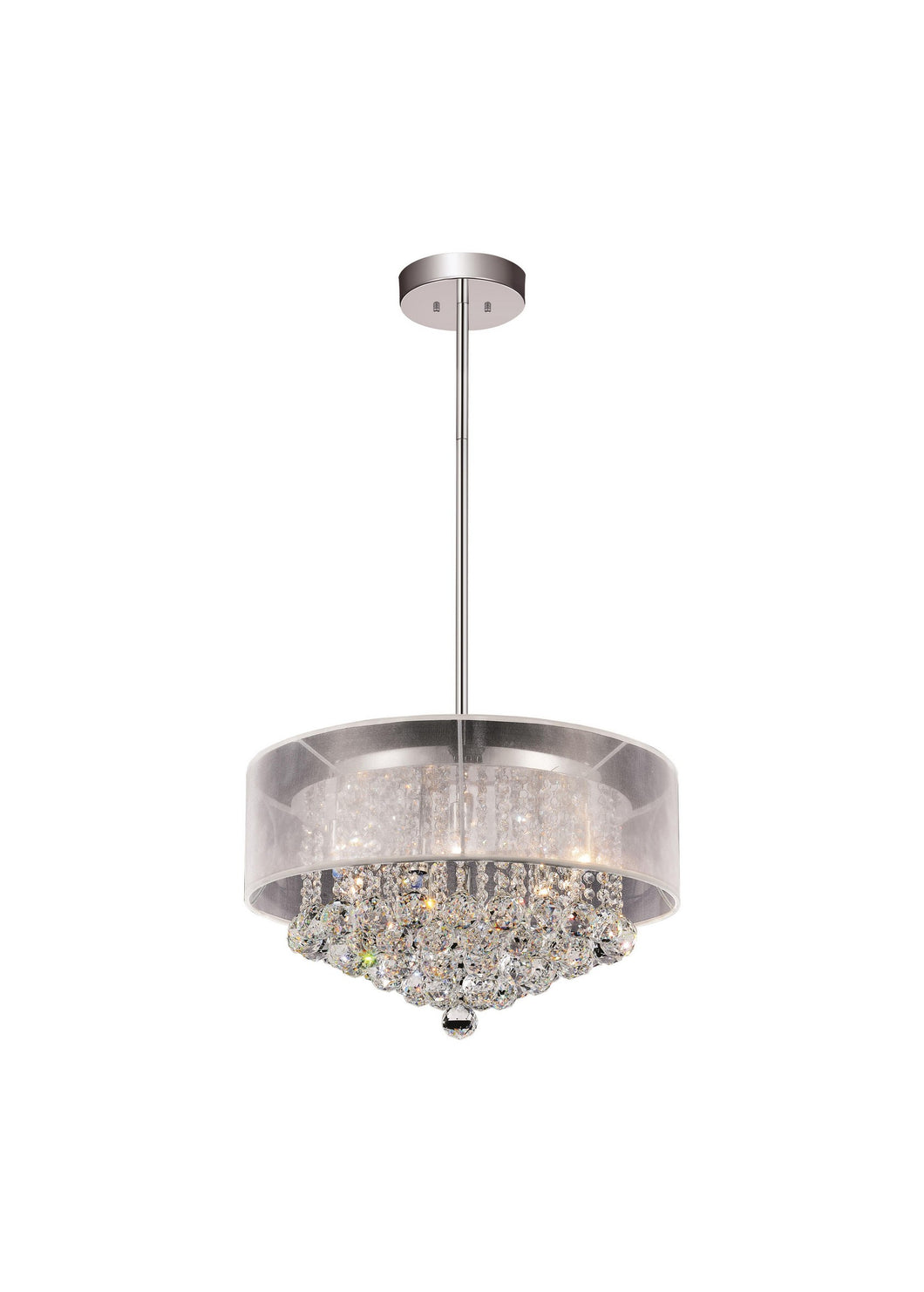 9 LIGHT DRUM SHADE CHANDELIER WITH CHROME FINISH - Dreamart Gallery