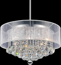 Load image into Gallery viewer, 9 LIGHT DRUM SHADE CHANDELIER WITH CHROME FINISH - Dreamart Gallery