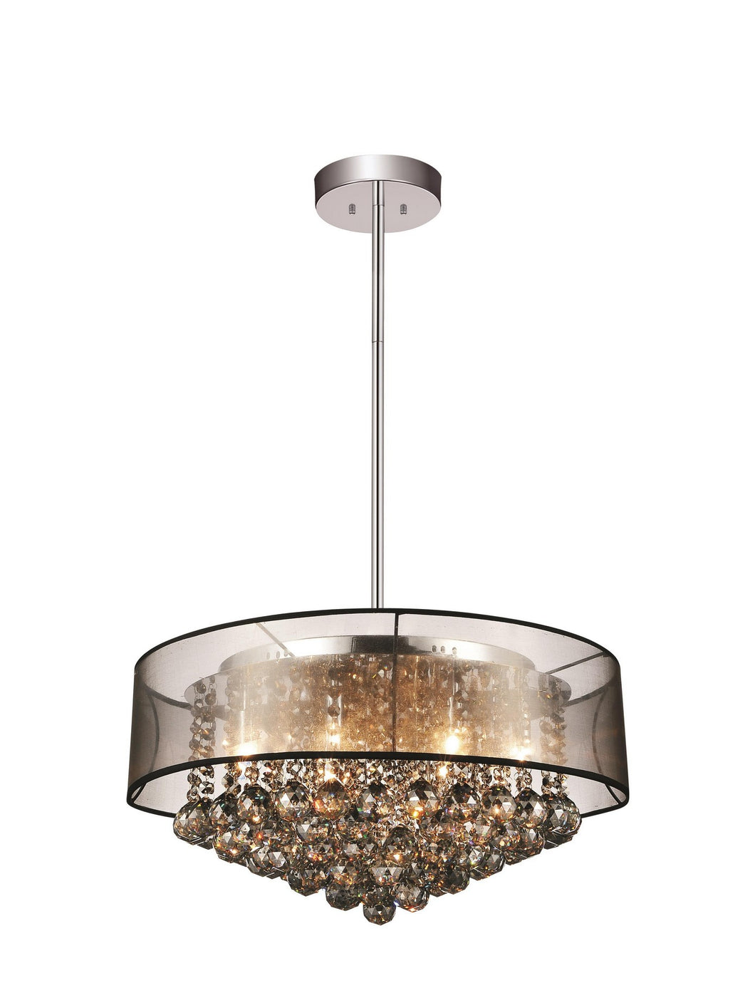 9 LIGHT DRUM SHADE CHANDELIER WITH CHROME FINISH - Dream art Gallery