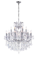 Load image into Gallery viewer, 19 LIGHT UP CHANDELIER WITH CHROME FINISH - Dream art Gallery