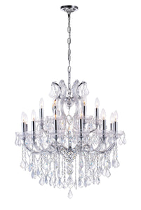 19 LIGHT UP CHANDELIER WITH CHROME FINISH - Dreamart Gallery