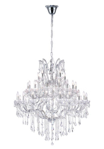 33 LIGHT UP CHANDELIER WITH CHROME FINISH - Dream art Gallery
