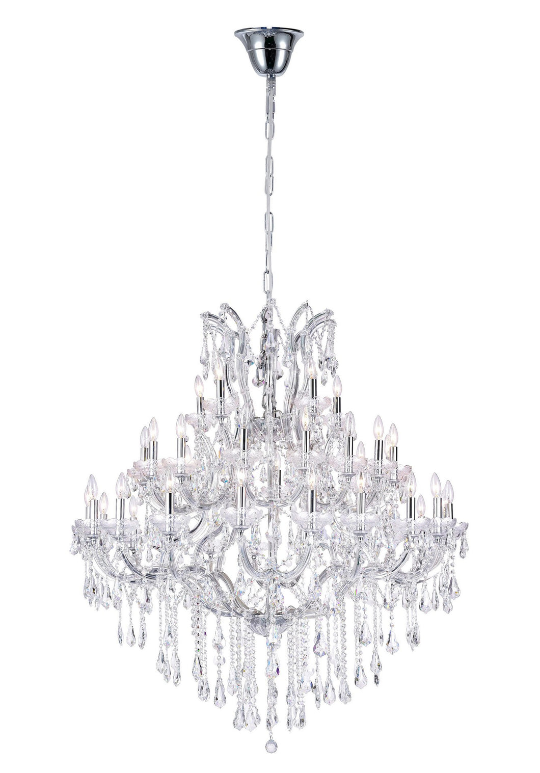 33 LIGHT UP CHANDELIER WITH CHROME FINISH - Dreamart Gallery