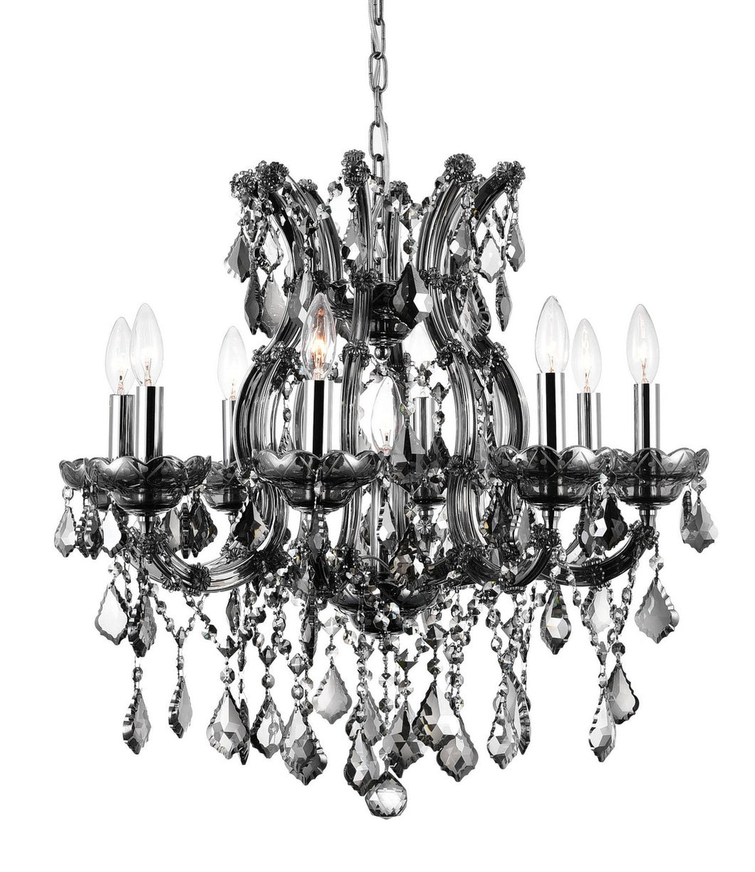 9 LIGHT UP CHANDELIER WITH CHROME FINISH - Dream art Gallery