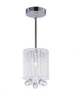 Load image into Gallery viewer, 1 LIGHT DRUM SHADE MINI PENDANT WITH CHROME FINISH - Dream art Gallery