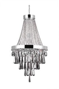 13 LIGHT DOWN CHANDELIER WITH CHROME FINISH - Dream art Gallery