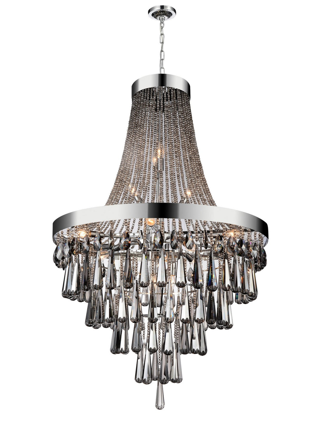17 LIGHT DOWN CHANDELIER WITH CHROME FINISH - Dream art Gallery