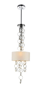 3 LIGHT DRUM SHADE MINI PENDANT WITH CHROME FINISH - Dreamart Gallery