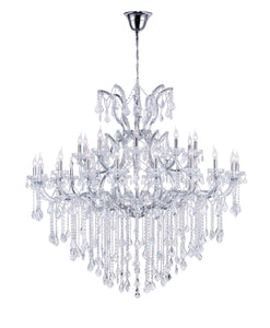 31 LIGHT UP CHANDELIER WITH CHROME FINISH - Dreamart Gallery