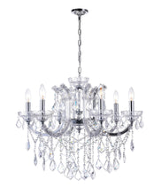 Load image into Gallery viewer, 6 LIGHT UP CHANDELIER WITH CHROME FINISH - Dreamart Gallery