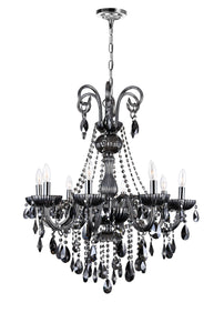 8 LIGHT UP CHANDELIER WITH CHROME FINISH - Dream art Gallery