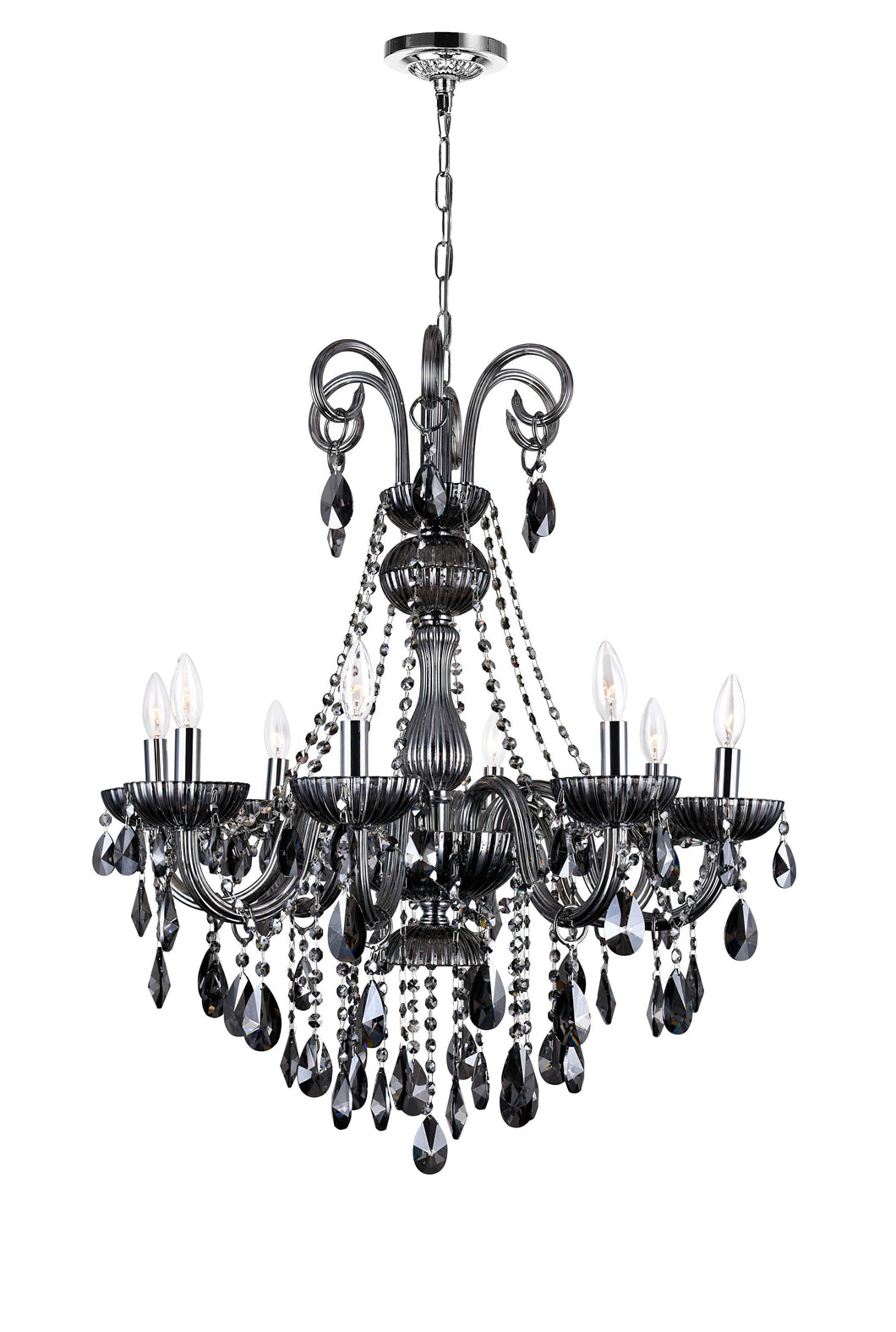 8 LIGHT UP CHANDELIER WITH CHROME FINISH - Dreamart Gallery