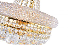 Load image into Gallery viewer, 8 LIGHT DOWN CHANDELIER WITH GOLD FINISH - Dream art Gallery