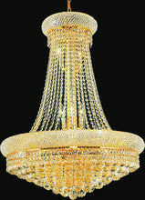 Load image into Gallery viewer, 18 LIGHT DOWN CHANDELIER WITH GOLD FINISH - Dream art Gallery