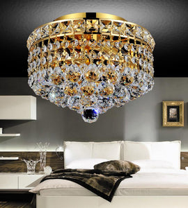 2 LIGHT FLUSH MOUNT WITH GOLD FINISH - Dream art Gallery