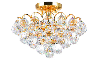 4 LIGHT FLUSH MOUNT WITH GOLD FINISH - Dreamart Gallery
