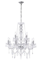 Load image into Gallery viewer, 12 LIGHT DOWN CHANDELIER WITH CHROME FINISH - Dreamart Gallery