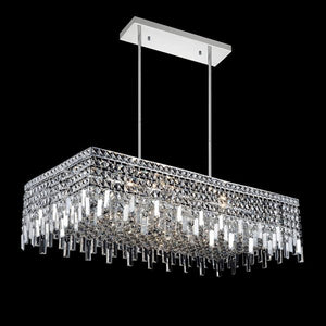 10 LIGHT DOWN CHANDELIER WITH CHROME FINISH - Dreamart Gallery