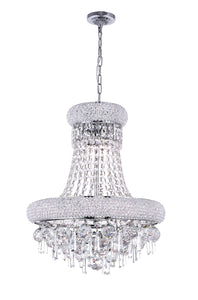 6 LIGHT DOWN CHANDELIER WITH CHROME FINISH - Dream art Gallery