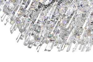 13 LIGHT DOWN CHANDELIER WITH CHROME FINISH - Dreamart Gallery