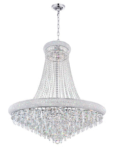 18 LIGHT DOWN CHANDELIER WITH CHROME FINISH - Dream art Gallery