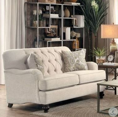 8380-2 Loveseat Natural Linen-like - Dream art Gallery