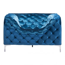 Load image into Gallery viewer, Providence Arm Chair Neon Blue Velvet - Dreamart Gallery