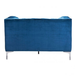 Providence Arm Chair Neon Blue Velvet - Dreamart Gallery