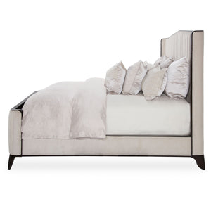 PARIS CHIC Cal King Tufted Panel Bed - Dream art Gallery