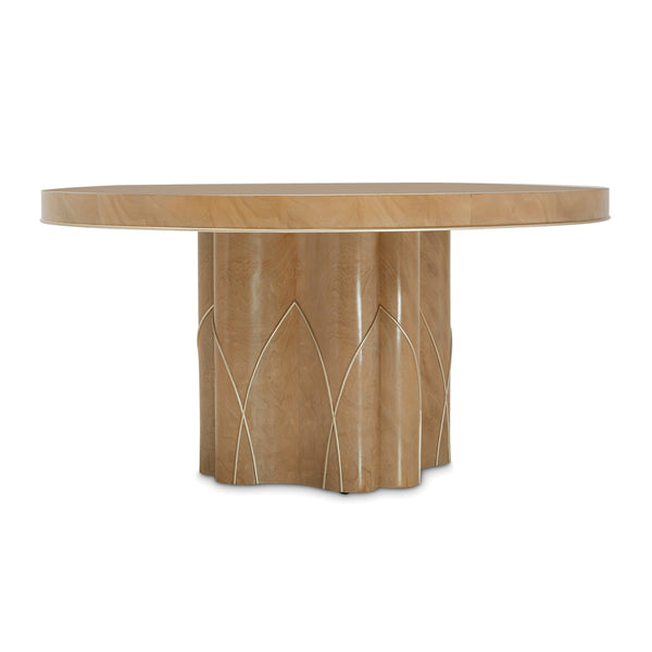 VILLA CHERIE - CARAMEL Round Dining Table (2 Pc) - Dream art Gallery