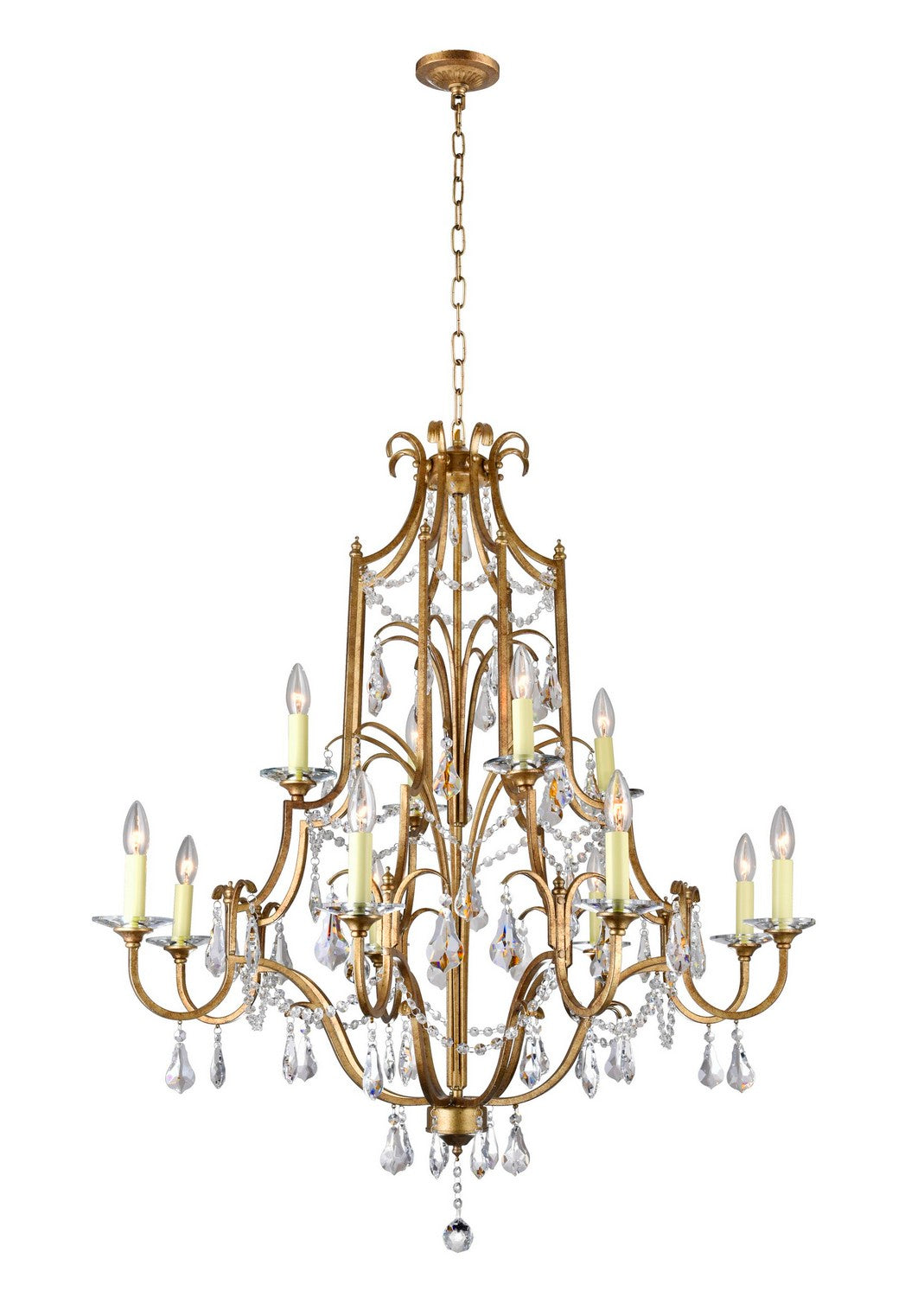12 LIGHT UP CHANDELIER WITH OXIDIZED BRONZE FINISH - Dream art Gallery