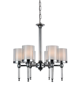 6 LIGHT CANDLE CHANDELIER WITH CHROME FINISH - Dream art Gallery