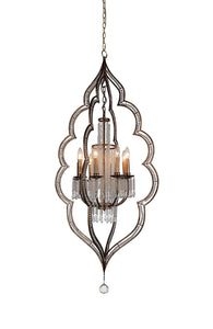 8 LIGHT UP CHANDELIER WITH CHAMPAGNE FINISH - Dream art Gallery