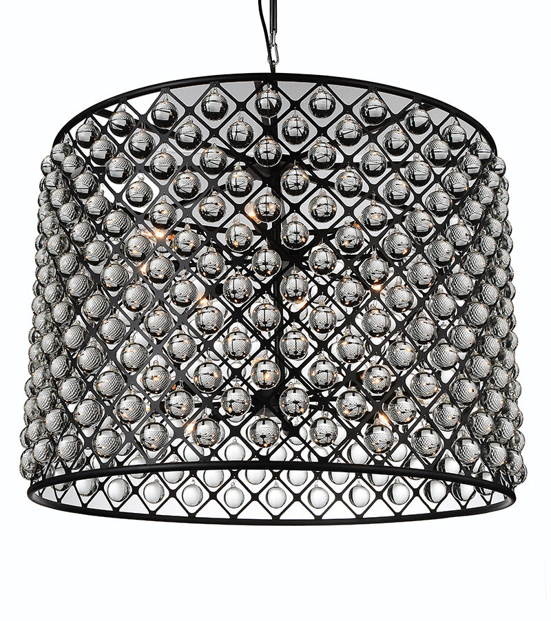 16 LIGHT CHANDELIER WITH BLACK FINISH - Dream art Gallery