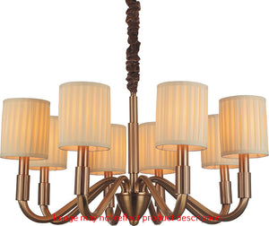 4 LIGHT UP CHANDELIER WITH SATIN NICKEL FINISH - Dream art Gallery
