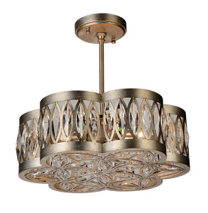 6 LIGHT CHANDELIER WITH CHAMPAGNE FINISH - Dream art Gallery