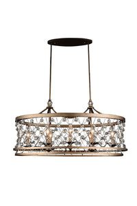 8 LIGHT UP CHANDELIER WITH SPECKLED BRONZE FINISH - Dream art Gallery