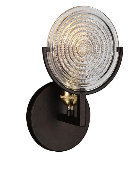 1 LIGHT WALL SCONCE WITH BROWN FINISH - Dreamart Gallery