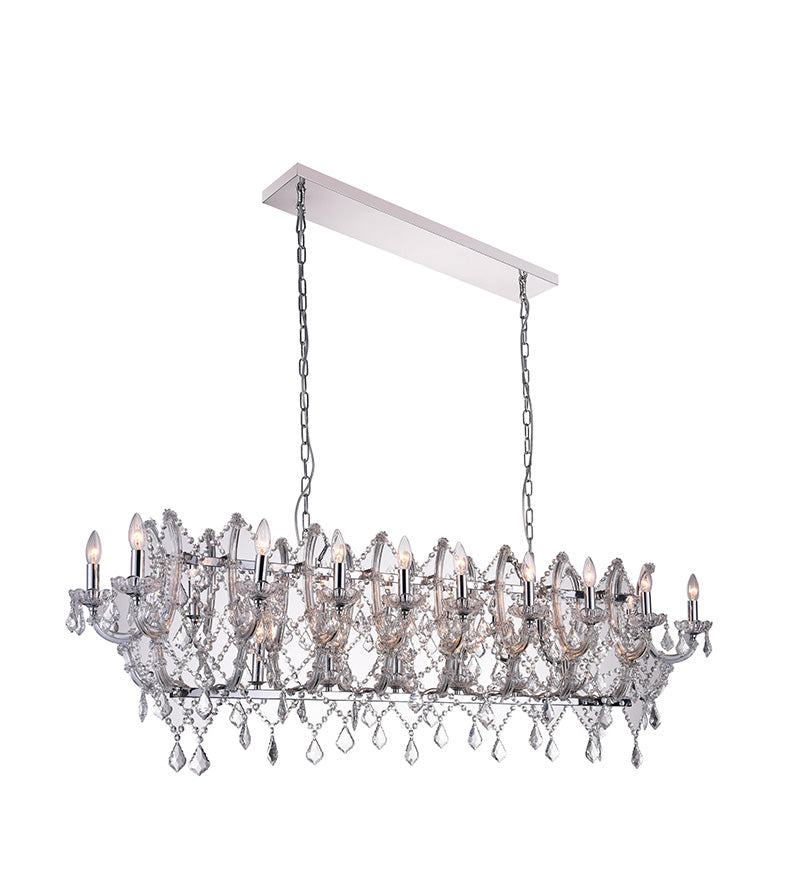 24 LIGHT CANDLE CHANDELIER WITH CHROME FINISH - Dreamart Gallery