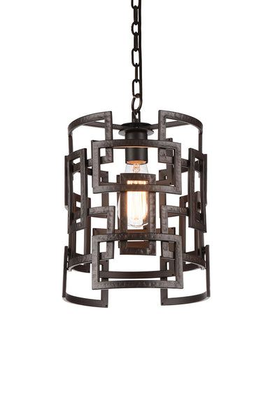 1 LIGHT DOWN CHANDELIER WITH BROWN FINISH - Dreamart Gallery