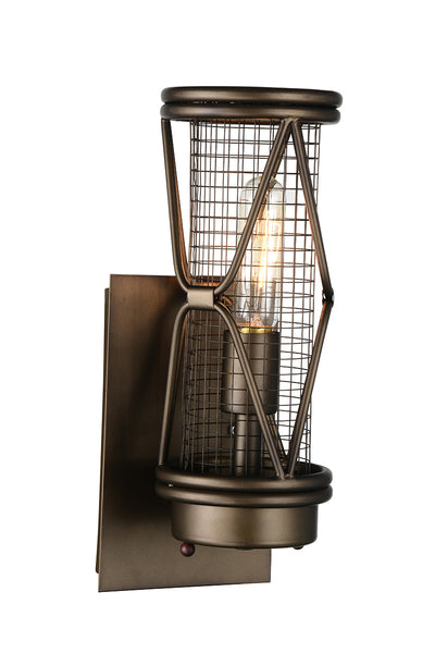 1 LIGHT WALL SCONCE WITH LIGHT BROWN FINISH - Dreamart Gallery