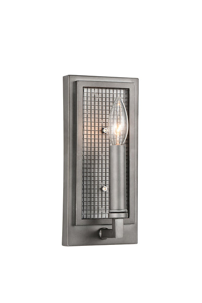 1 LIGHT WALL SCONCE WITH BLACK SILVER FINISH - Dream art Gallery