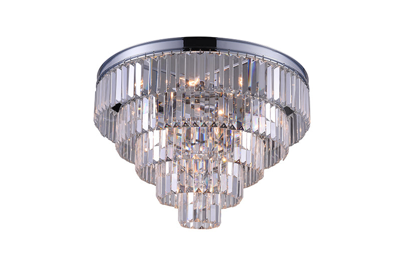 7 LIGHT FLUSH MOUNT WITH CHROME FINISH - Dream art Gallery