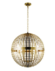 6 LIGHT CHANDELIER WITH GOLD FINISH - Dream art Gallery