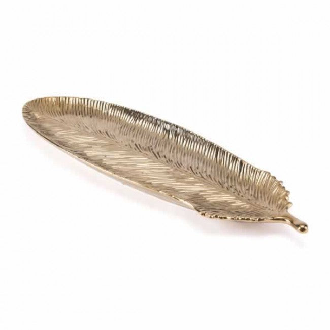Gold Feather Gold small - Dream art Gallery