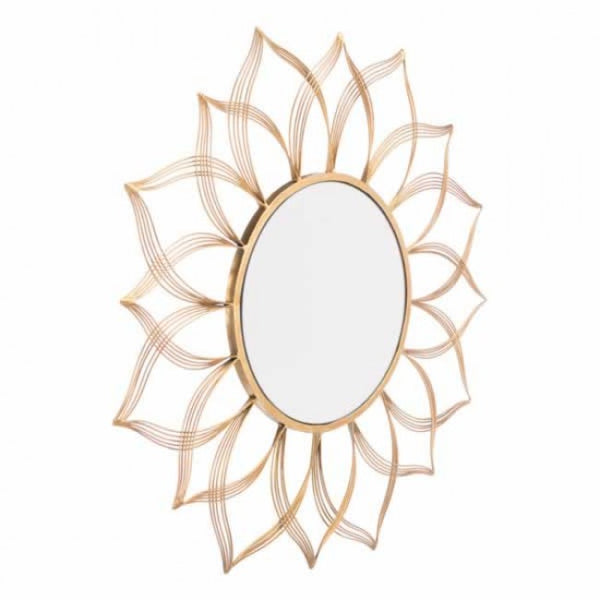 Flower Gold Mirror Gold - Dream art Gallery