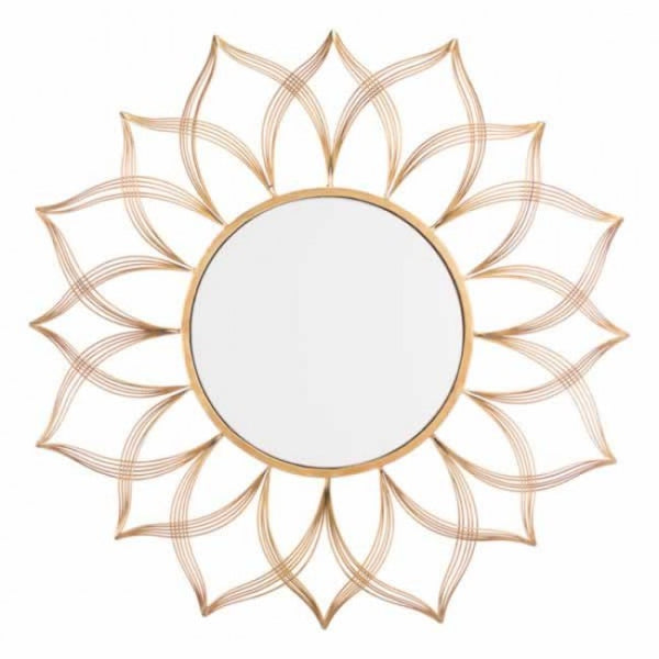 Flower Gold Mirror Gold - Dreamart Gallery