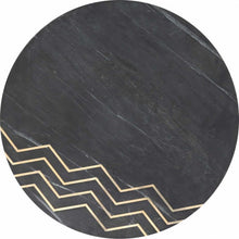Load image into Gallery viewer, Rumi Accent Table Set Black Marble & Brass - Dream art Gallery